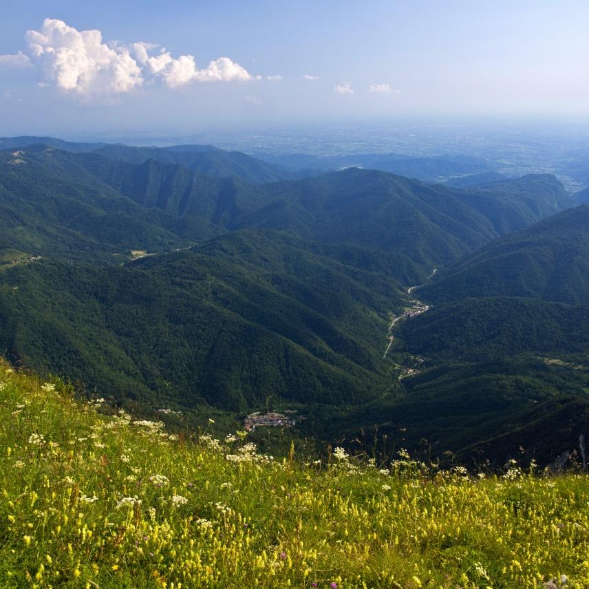 La valle del Cornappo dal Granmonte - foto di Marco Pascolino