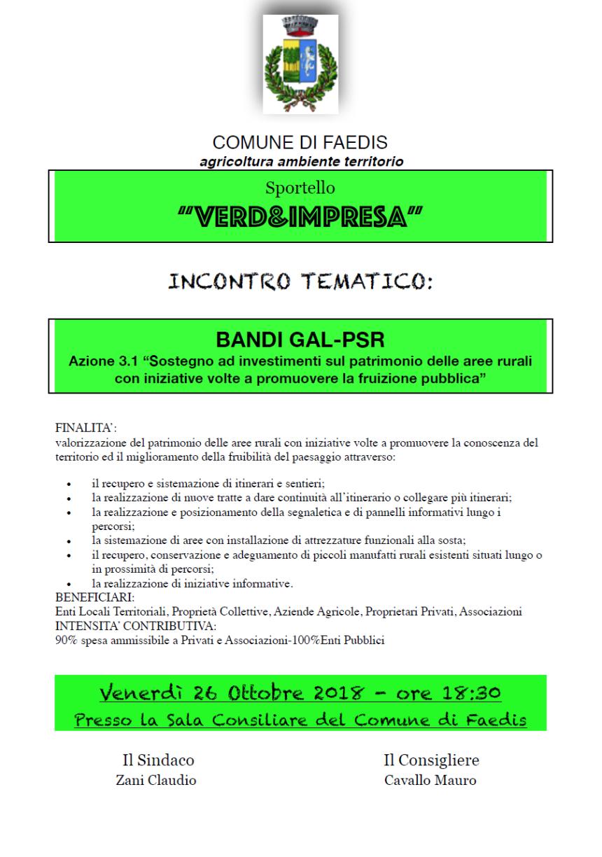 Sportello Verd&impresa - Faedis